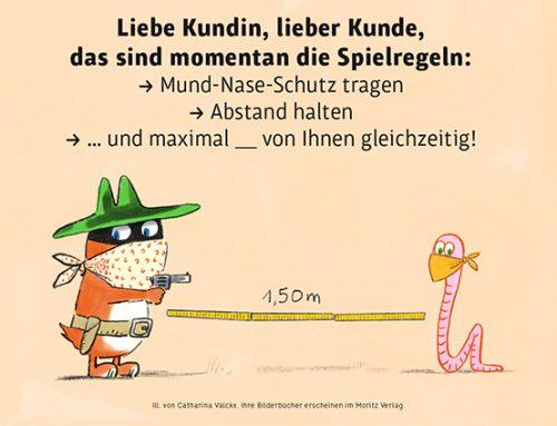 Neues Plakat für Buchhandlungen vom Moritz Verlag