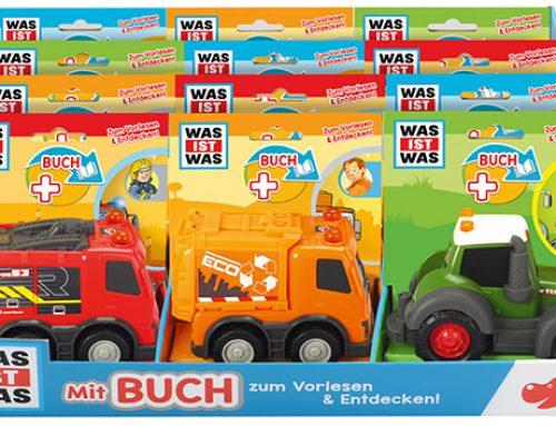 Spielfahrzeug und Sachbuch im Bundle: Dickie Toys und Tessloff Verlag kooperieren