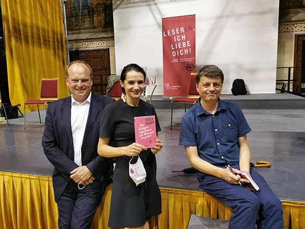 Christian Kircher, Katarzyna Lutecka und Radek Knapp | © Kocher/Amalthea Verlag
