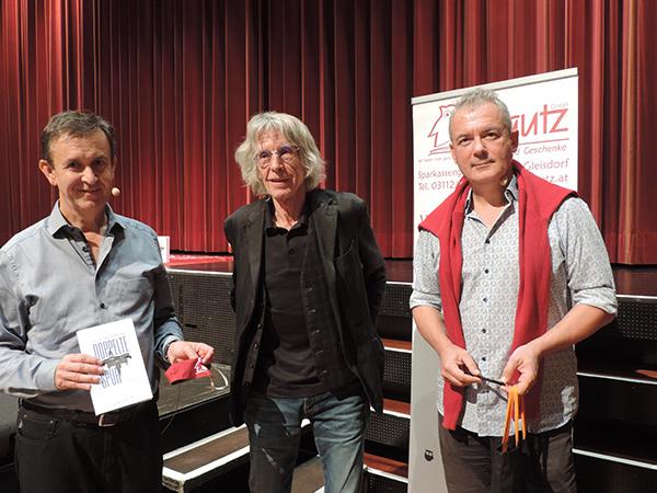 Claus Schwarz, Werner Krause, Ilija Trojanow | © Buchhandlung Plautz