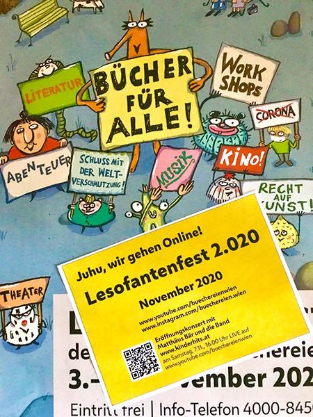 Banner lesofantenfest 2.020 | © Stadt Wien Büchereien