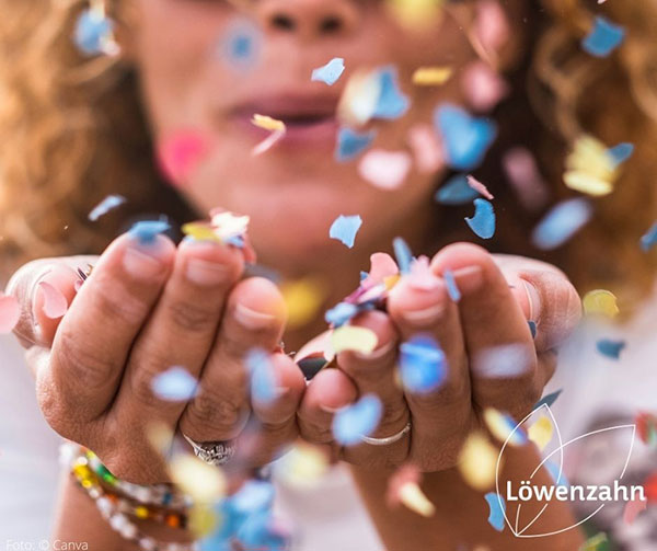 Superkonfetti für die Buchhänder*innen | © Löwenzahn Verlag