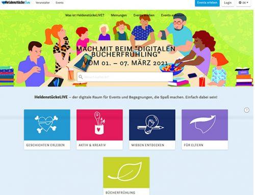"""""""Digitaler Bücherfrühling"""": Online-Lesefestival für die gesamte Branche auf HeldenstückeLIVE"""