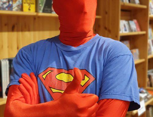 Superheld der Buchhandlung Bücken